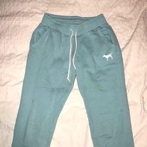 turquoise pink sweatpants